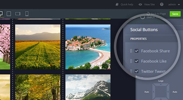 MotoCMS 3.0.8 Update - social buttons