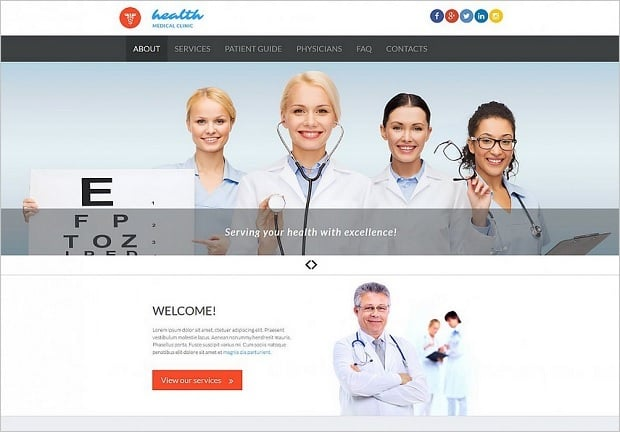 Bestselling website templates summer 2015 - medical website