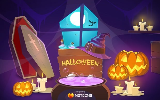 MotoCMS free Halloween wallpaper - preview