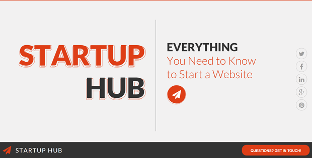 Start a website - Startup Hub from TemplateMonster