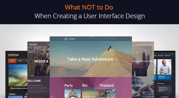 User interface design - main