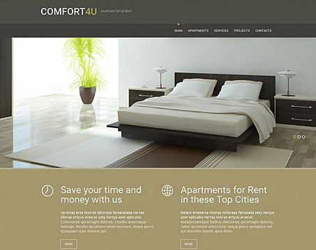 Apartments for Rent Website Template