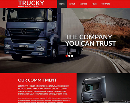 Transportation Company Website Template