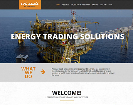 Energy Training Website Template