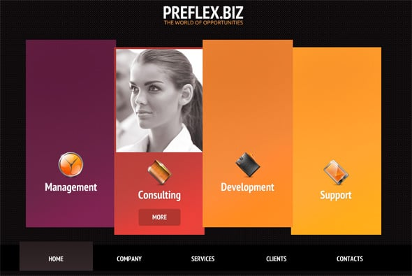 flash templates new exclusives with professional flash cms