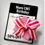 New Huge Discount for MotoCMS Birthday