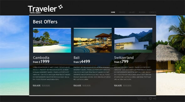 Travel Flash CMS Template with Photo Galleries