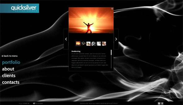 Multilevel Photo Gallery in a Flash CMS Template
