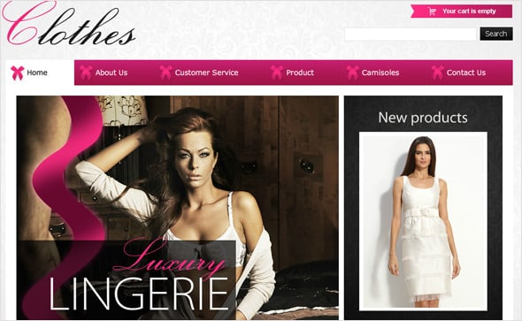 Fashion E-shop Flash CMS Design