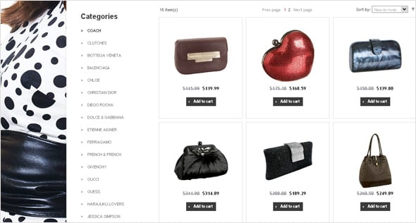 Stylish E-commerce Design for Bag Store