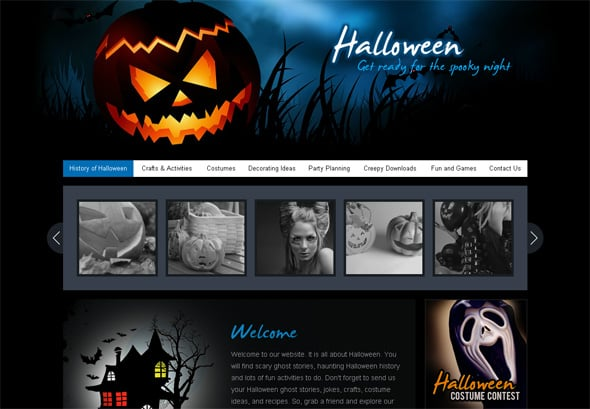 MotoCMS Halloween Template