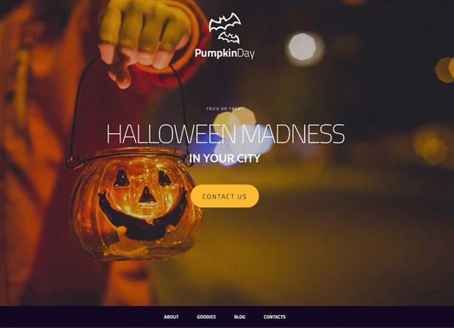 Wickedly Cool Halloween MotoCMS Template – Giveaway