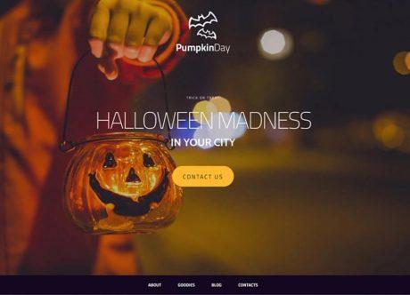 Шаблон сайта для Хэллоуина - подарок от MotoCMS