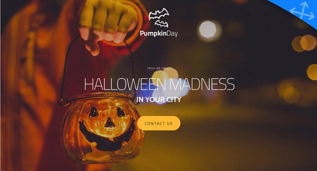 шаблон сайта для Хэллоуина бесплатно