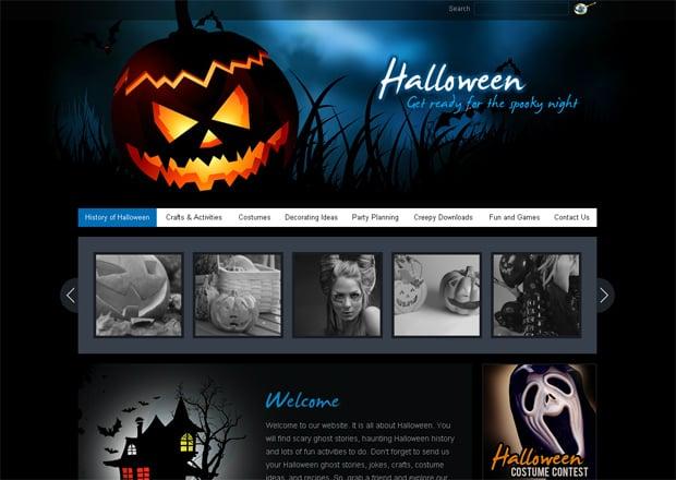 Шаблон сайта MotoCMS для Хэллоуина