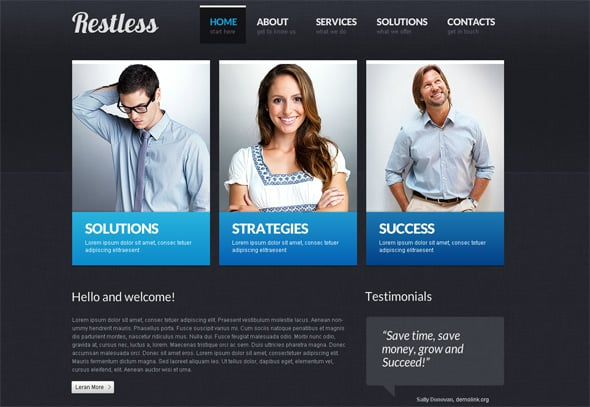 Business Website Template with CMS