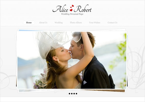 Wedding Moto CMS Design
