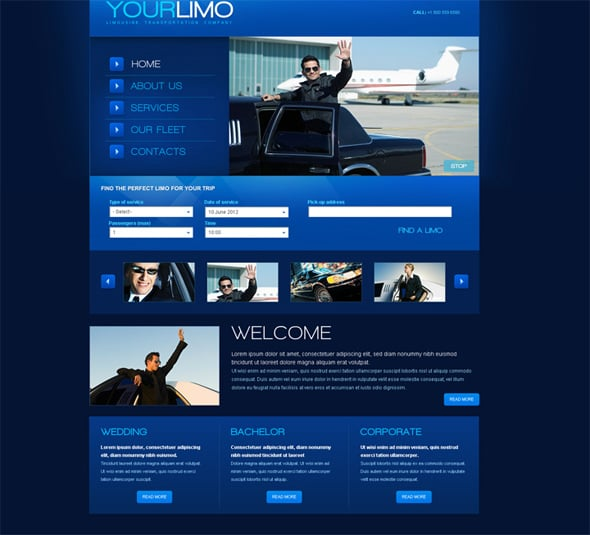 Flash Template for a Limousine Transportation Company