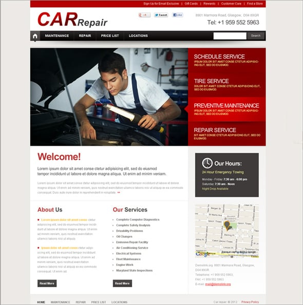 Cars Flash CMS Templates