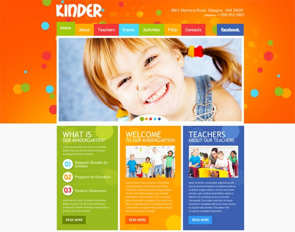 Kindergarten Website Flash Template