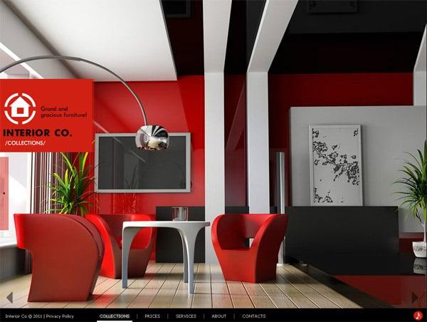 Лаконичный дизайн для сайта агентства дизайна интерьеров