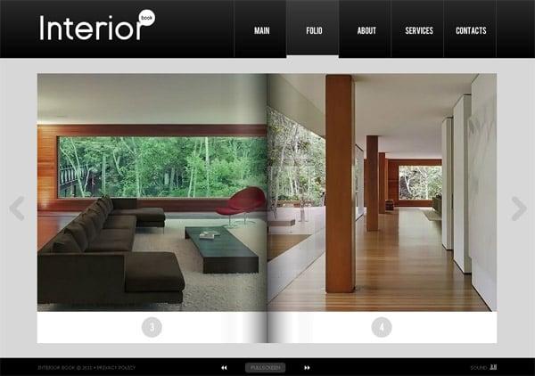 Сайт в виде каталога с необычным визуальным эффектом