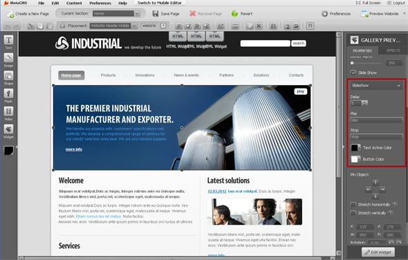 Industrial Flash template