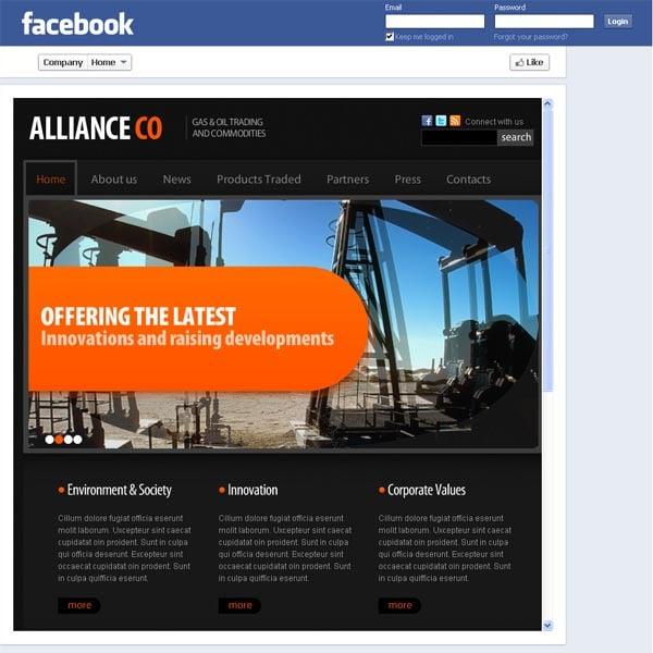 Шаблон для нефтедобывающей корпорации