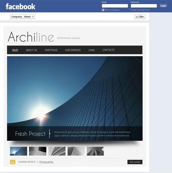 Страничка архитектурного бюро на Facebook