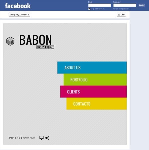 Шаблон для креативного агентства в фейсбуке