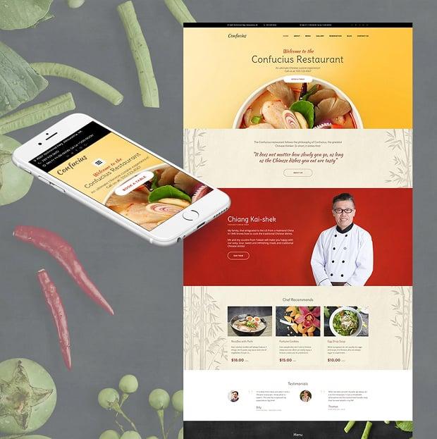 how to make a restaurant website