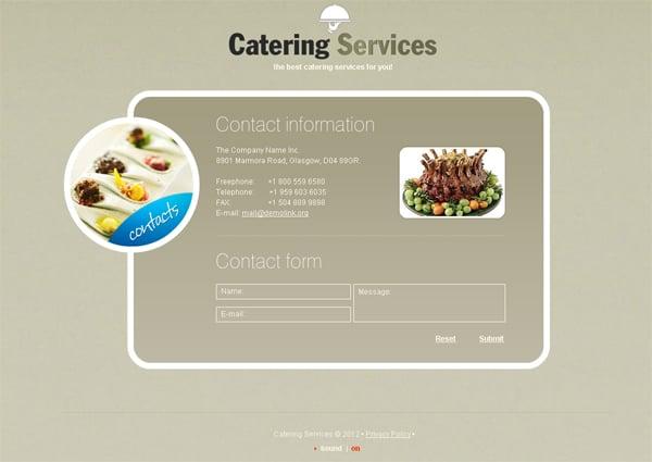 Сайт для предприятия общественного питания