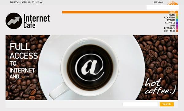 Сайт интернет-кафе
