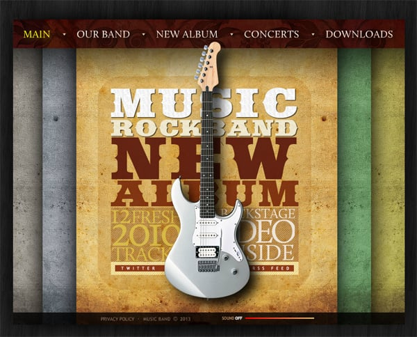 Шаблон сайта музыкальной группы