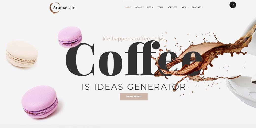 HTML шаблон сайта Aromacafe