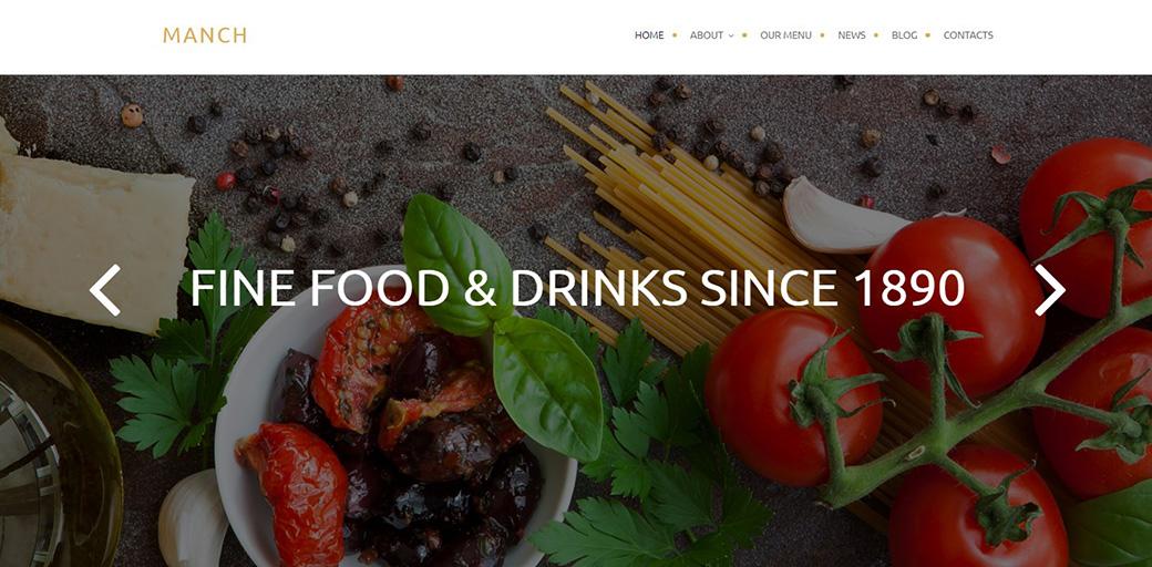 Веб-тема для ресторанного бизнеса