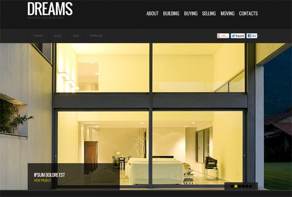 Real Estate Web Design by MotoCMS