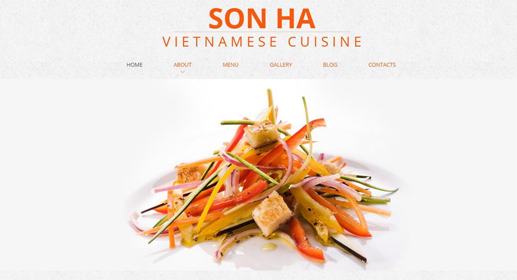 HTML шаблон сайта Vietnamese Cuisine