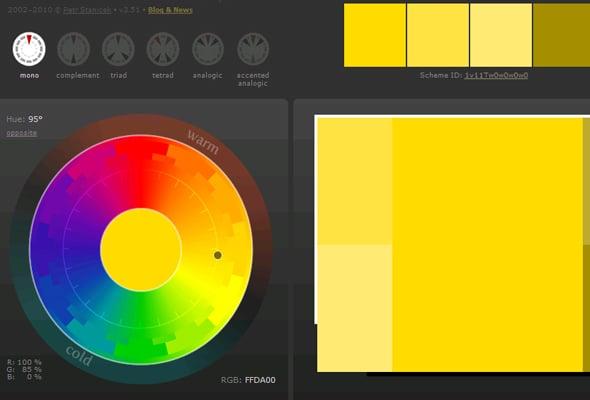 Сочетания цветов в дизайне сайта - монохромная