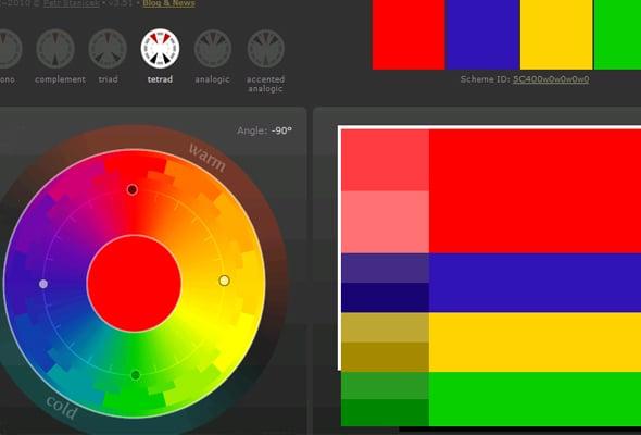 Сочетания цветов в дизайне сайта - Тетрадическая