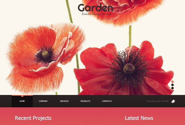 Red Color Combination in Web Design