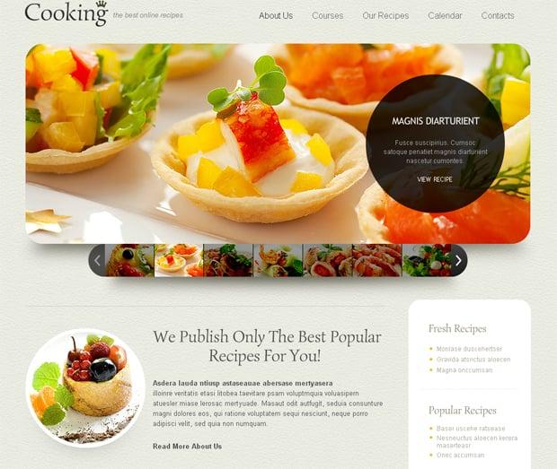 Шаблон сайта с кулинарными рецептами