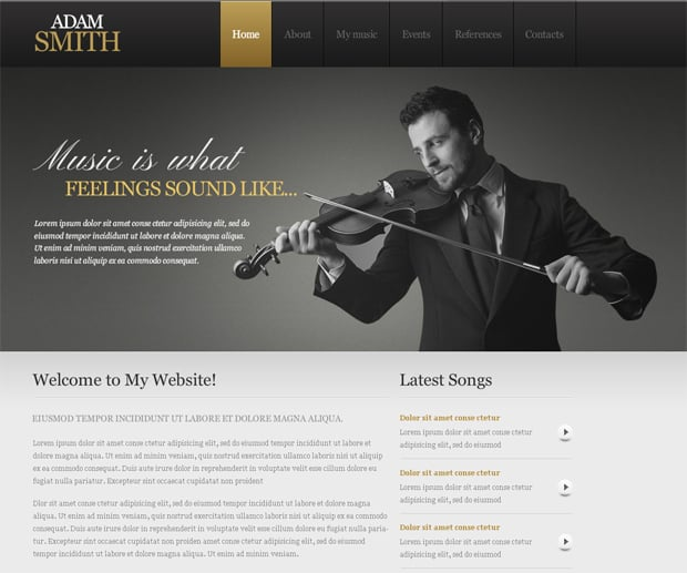 Шаблон сайта для композитора