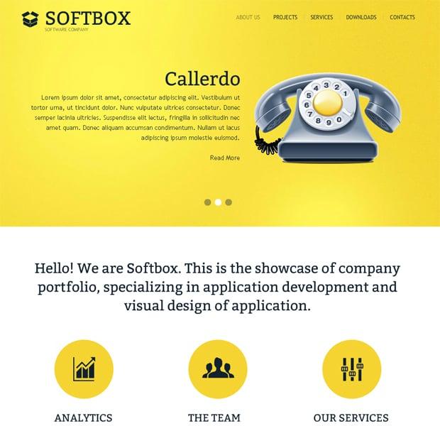 Шаблон сайта для софтверной компании