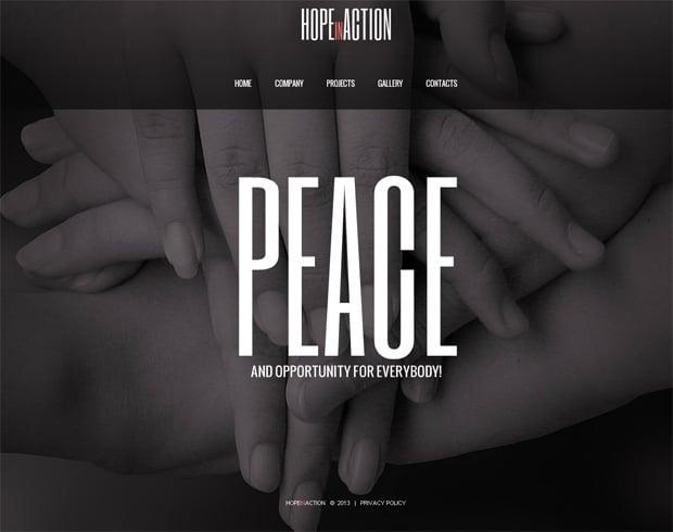 Шаблон сайта для благотворительного фонда