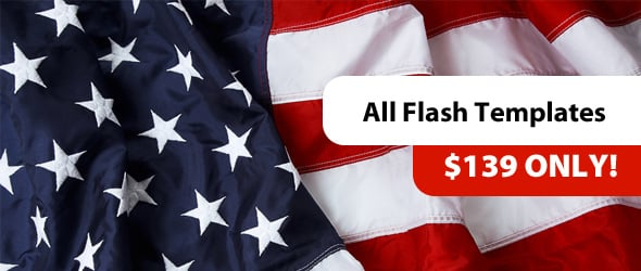 Independence Day Promo on Website Templates