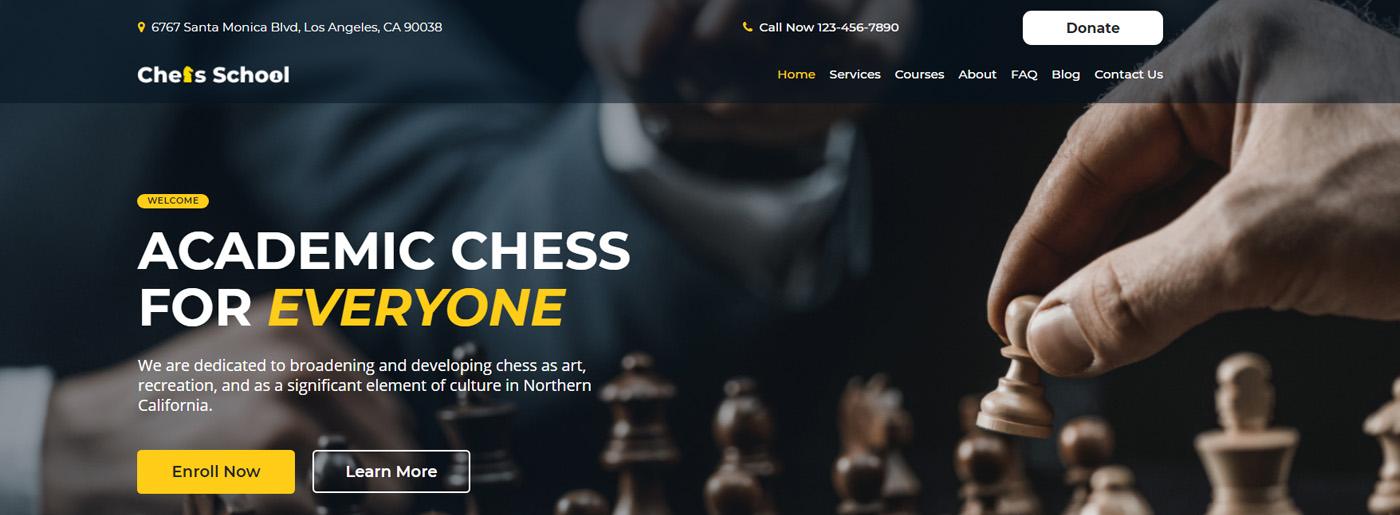 Chess Website Template