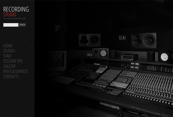Website Template for a Recording Studio