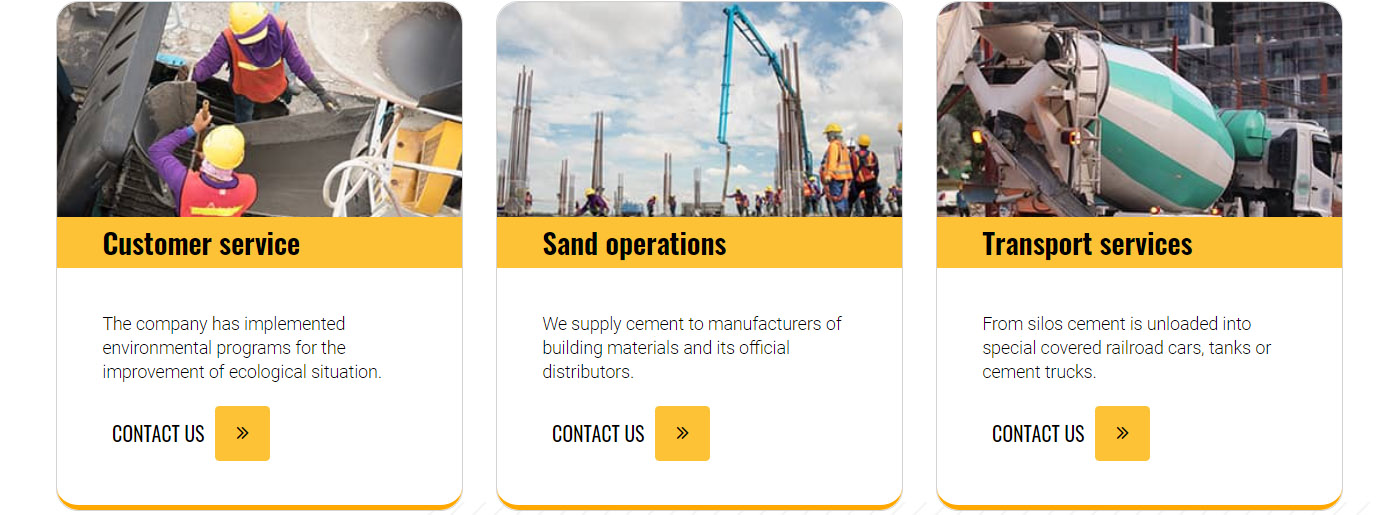 Cement Company Website Template