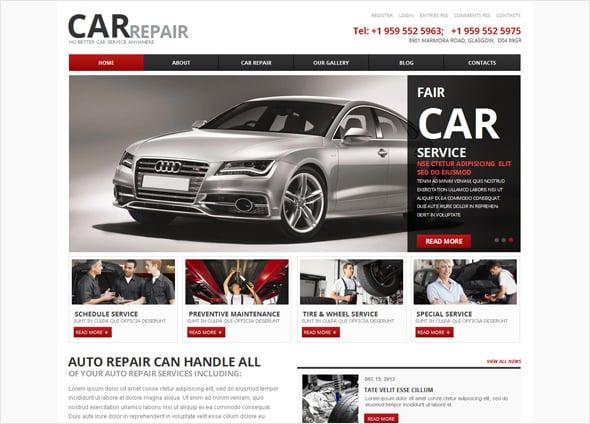 Car Repair Business Website Template